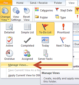 Outlook Manage Views
