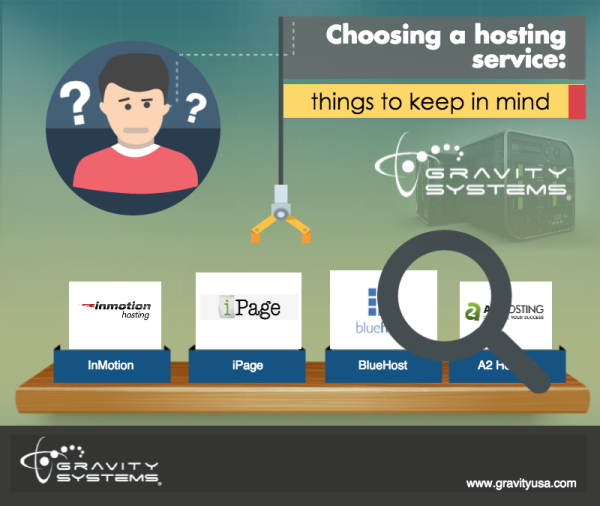 Choosing a hosting service: things to keep in mind