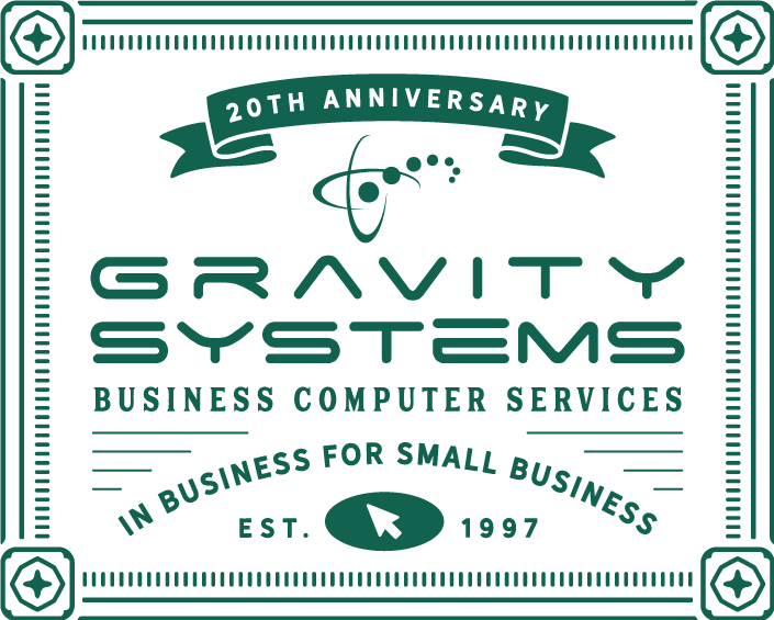 Gravity Systems Business Computer Services Vintage.png
